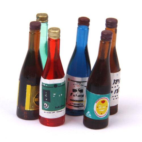 1:12 Botellas De Vino Miniatura muñeca casa Juego de 6 piezas I8L4