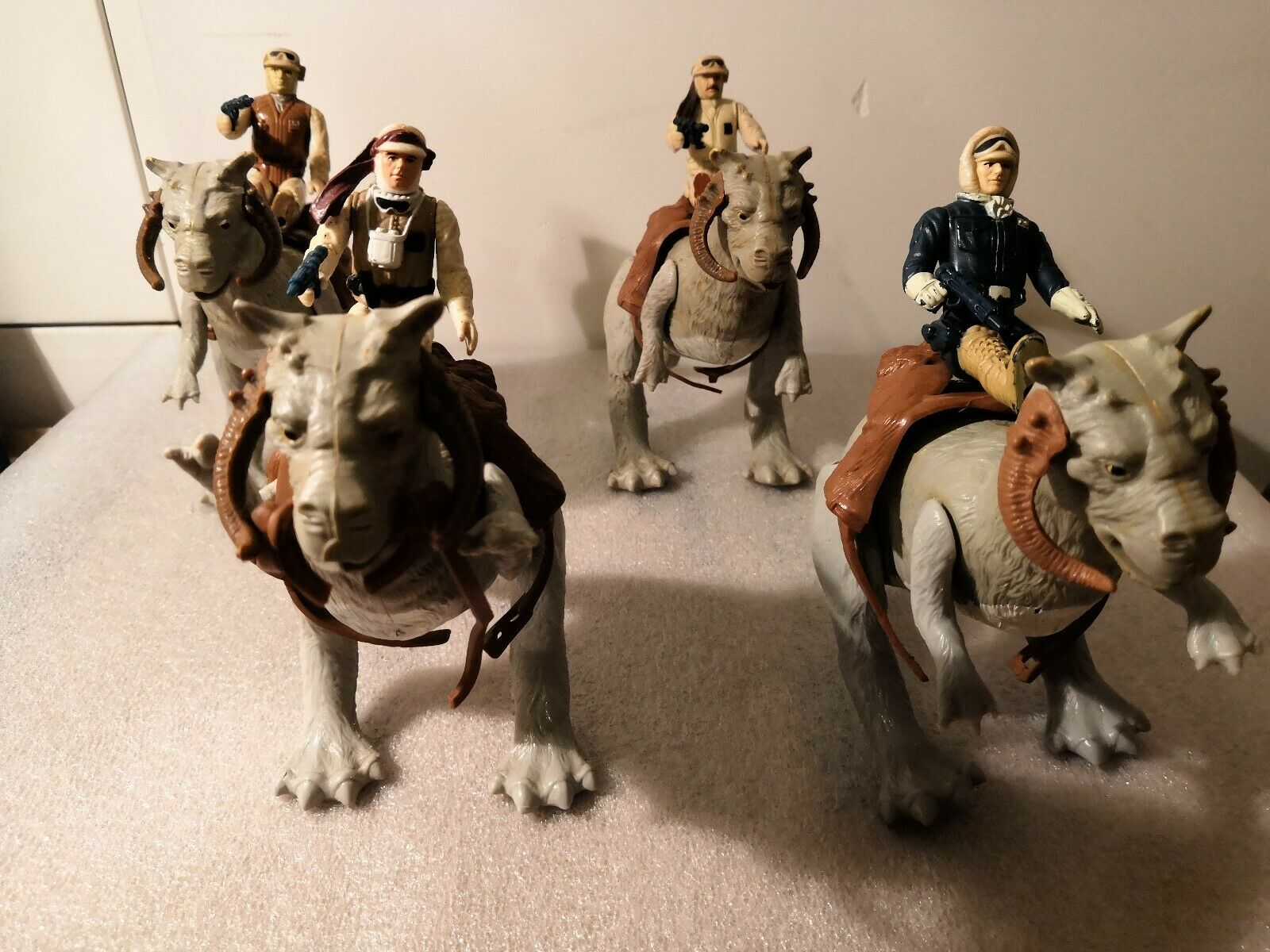 estrella guerras lot vintage tauntaun with accesories 4 cifras 4 accesories 4 tauntaun