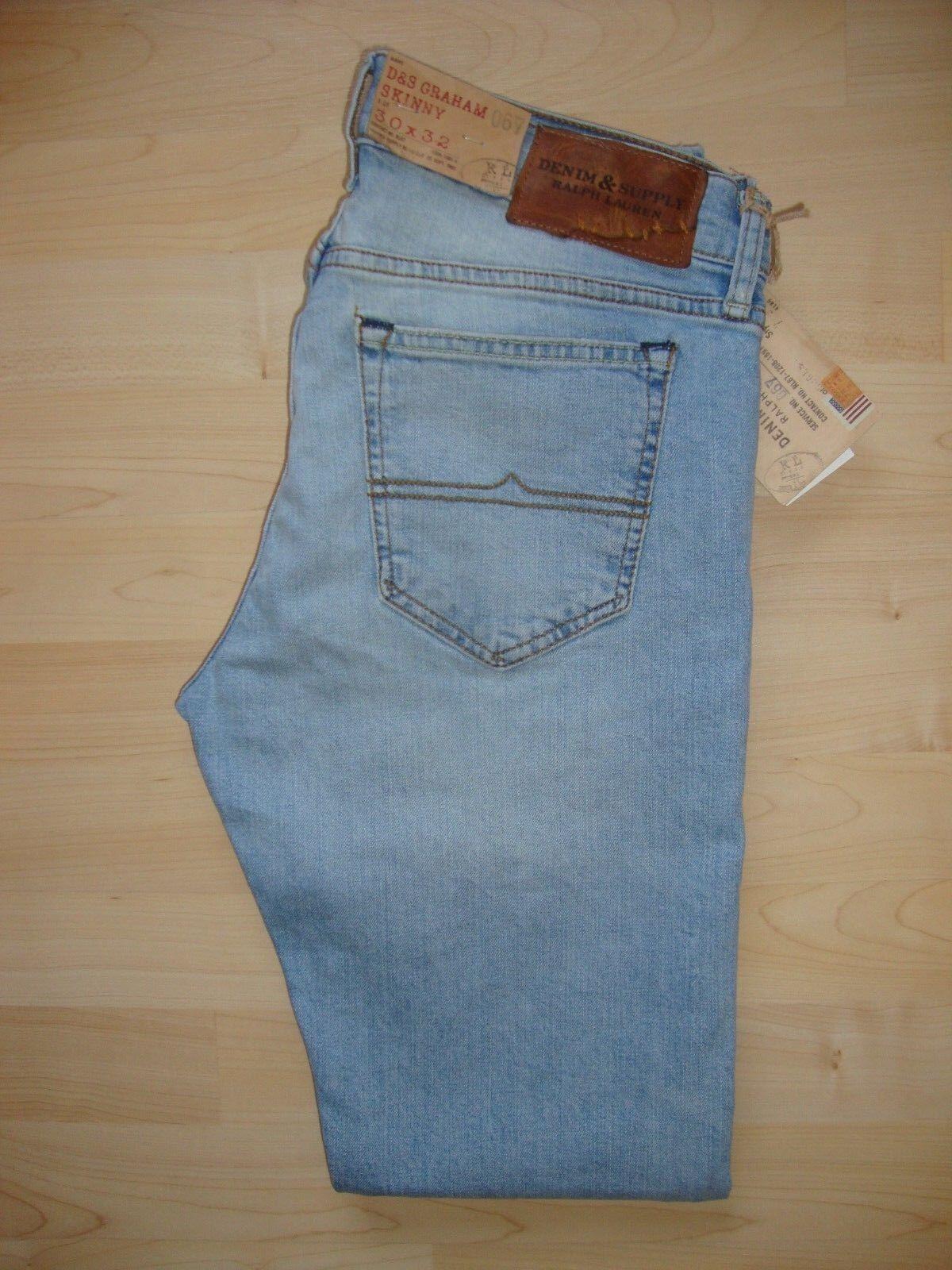 Ralph Lauren Mens 'D&S Graham Skinny' bluee Jeans W30 L32 BNWT RRP