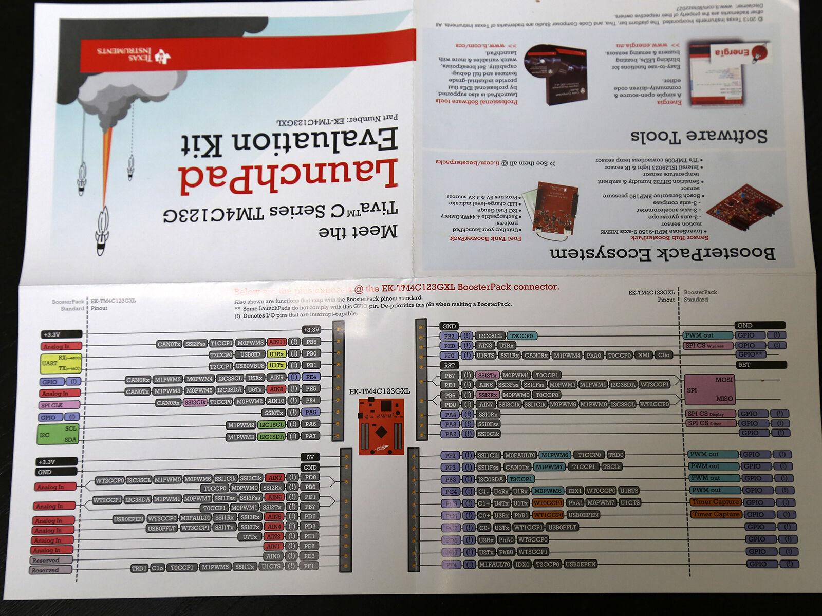 Texas Instruments Ek-tm4c123gxl Tm4c123g Launchpad Tiva C Eval Kit