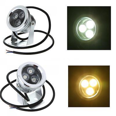 9W 12V Unterwasser LED-Flutlicht Garten Brunnen Teich Lampen weiß Licht Lampe