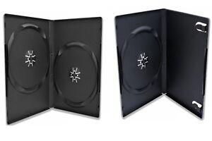 DVD-HULLE-CD-BLURAY-BOX-CASE-1-2-FACH-HULLEN-7-9-mm-1er-2er-LEERHULLEN-SLIM