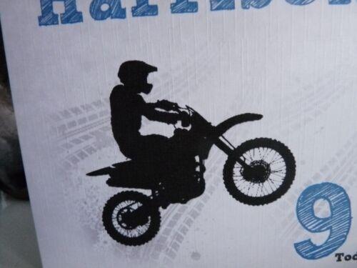 Handmade Personnalisé Garçons Mâle Moto Stunt Vélo Carte D/'Anniversaire Ange Âge