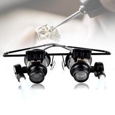 Neuer Entwurfs- Binocular Glas-Art 20X Uhr Schmuck Reparatur Lupe mit LED Hot