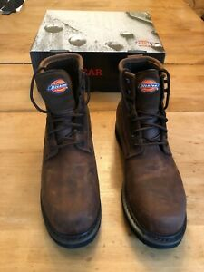 3b10f699997 Details about Dickies Cannon Size 11 Work Boot Safety Shoes Brown Steel Toe  Leather WP EH NEW