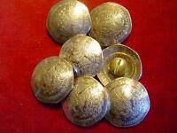 Conchos: 7 Ten Peso Mexican Nickle Silver Real Coins, Post & Screw