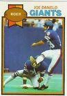 1979 Topps Joe Danelo #208 Football Card