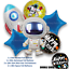 Astronaut-Space-Rocket-Happy-Birthday-Foil-Latex-Balloons-Kids-Party-Decorations thumbnail 2