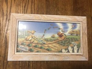 Disney-Winnie-The-Pooh-100-Acre-Wood-14-5x8-5-Framed-Print-Garden-Scene-Picture