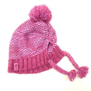 deed2232f New The North Face Girls Logo Beanie Black Knit Warm Fleece Snow Hat ...