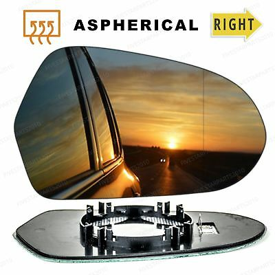 Right Driver side Wide Angle wing mirror glass for BMW 1 Series 2011-2018 Heated