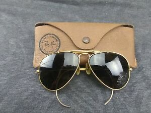 b876cd13d822 Image is loading Vintage-Ray-Ban-Aviator-Gold-Frame-Sunglasses-Bausch-
