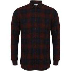 Skinni-Fit-SF-Brushed-Check-Casual-Shirt-With-Button-Down-Collar