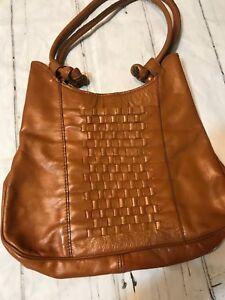 664ab28a1d07 Details about Vintage Tan Brown Faux Leather Woven Bag Purse Hippie Boho  Handbag Women's Summe