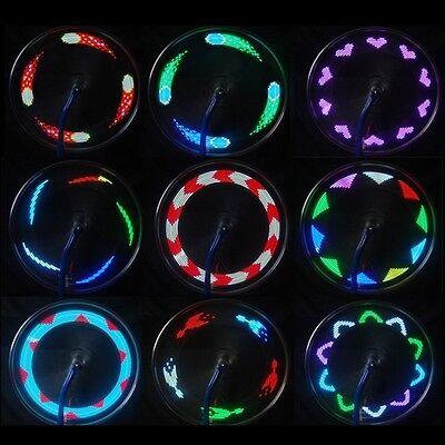 Bike Bicycle Cycling MTB Wheel Tire Spoke Colorful 14 LED Light Lamp 30 Patterns
