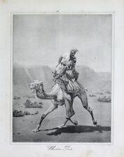 Wüste Bote Post Kamel Dromedar Ägypten Araber Pfeife Sattel Brief Depesche
