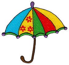 be12 Regenschirm Schirm Umbrella Aufnäher Patch Flicken Bügelbild 9,0 x 8,3 cm