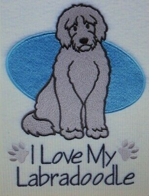 Love My Labradoodle Dog Embroidered Personalized Tee Shirt ALL SIZES