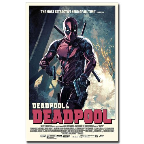Deadpool 2 Superhero Movie Canvas Poster Art Prints 8x12 24x36 inches Room Decor