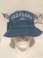 Profound Aesthetic Bucket Hat nwt Washed Denim Bucket Hat 13 Colonies