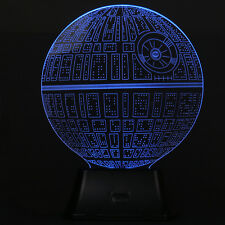 3D Illusion Death Star Lamp Acrylic LED Night Light Micro USB Table Desk Lamp