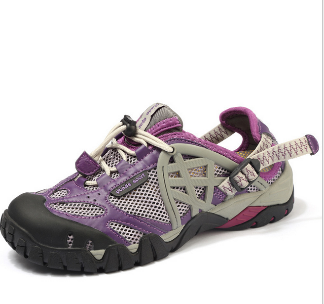Womens Mesh Holes Sandal Travel Hiking outdoor sneaker Sports shoes Athletic @