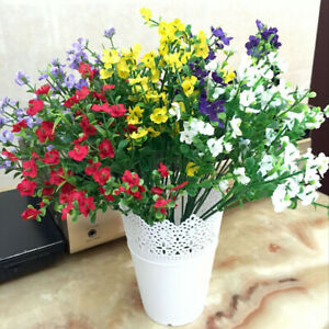 Garden-Silk-Artificial-Flowers-Plastic-Grass-Fake-False-Plants-Bouquet