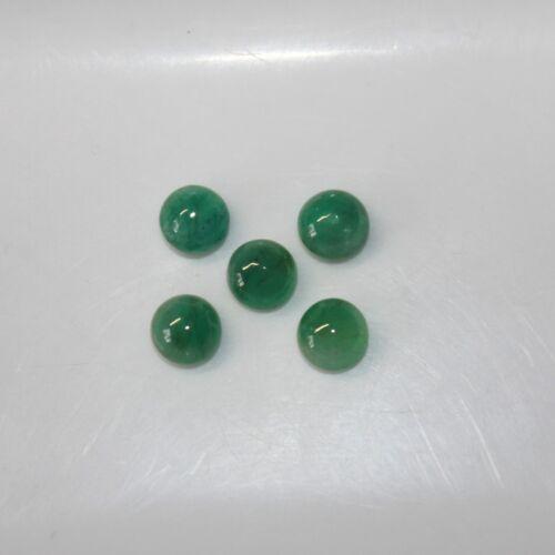 Emerald 6mm Cabochon Round Loose Gemstones w// Multi-Qty Discount