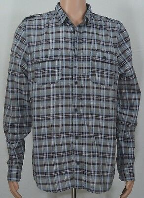 Mens Buffalo David Bitton Sidroq Garnet Button-Front Shirt BM2009