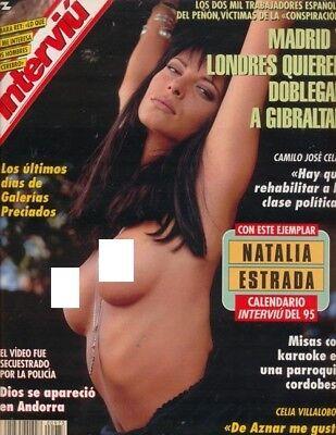 Natalia Estrada Calendario.Interviu 973 Natalia Estrada Covergirl Mina Mendes Sara Sanderz Barbara Rey Ebay