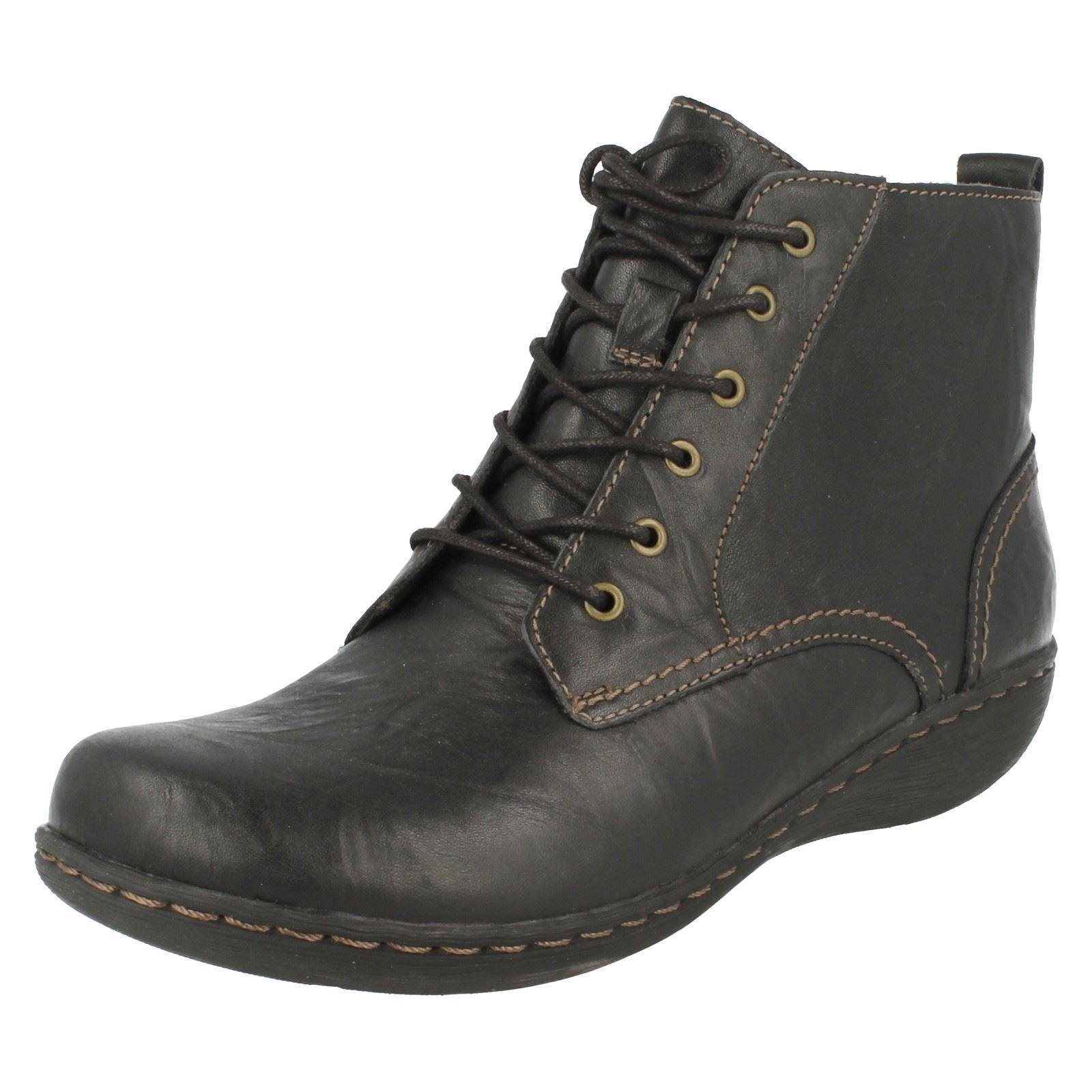 Zapatos especiales con descuento Clarks' Fianna Holly ' Mujer Con Cordones Piel Negra 2.5cm