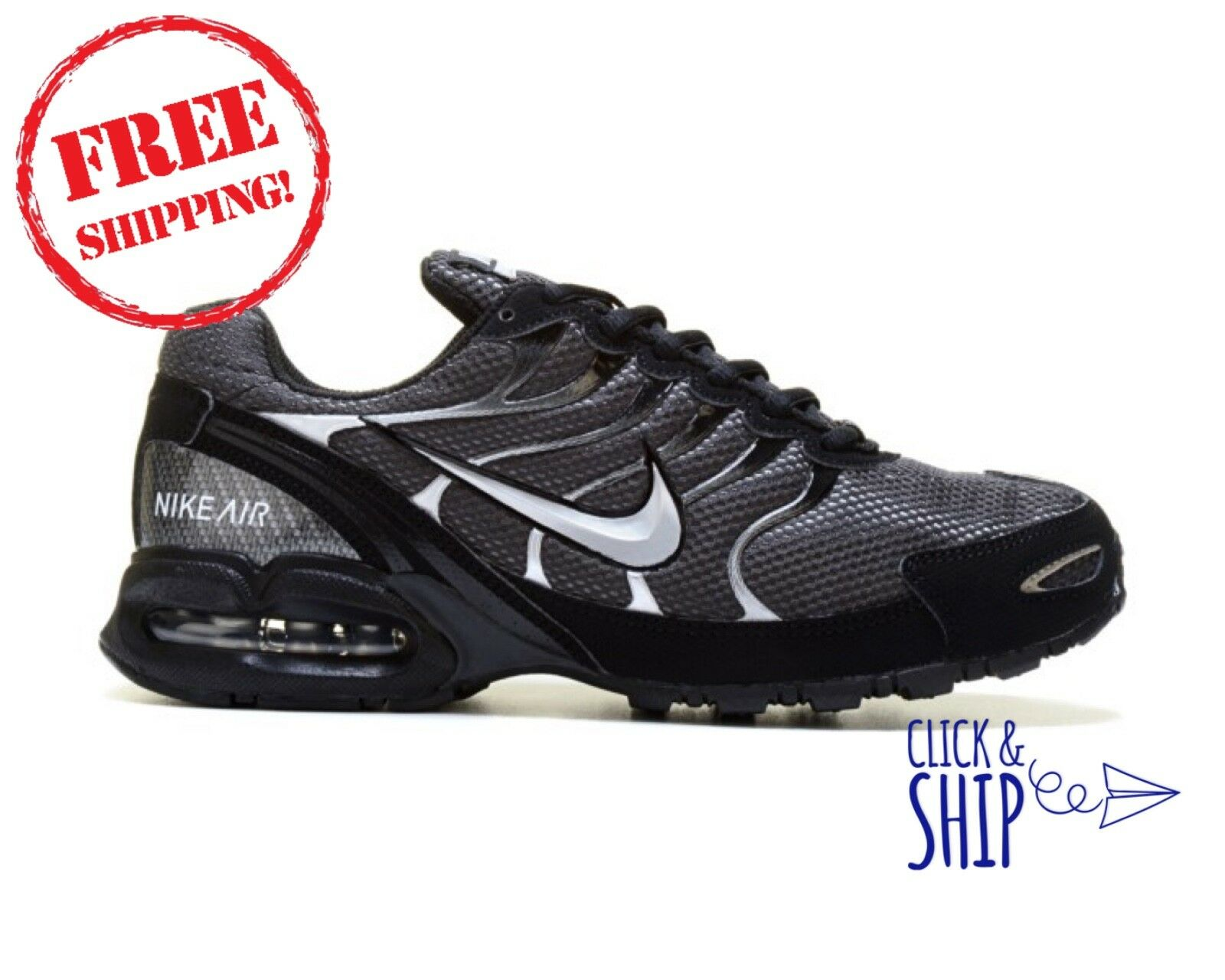 90e0ddf71cf Nike Air Max Torch 4 Running Cross Training shoes Sneakers MENS Anthracite  Silve