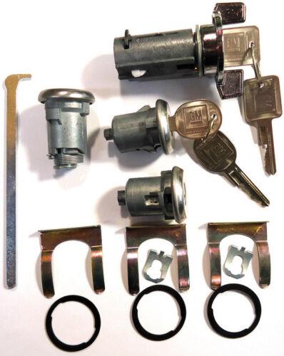 New GM Oldsmobile OEM Chrome Ignition//Doors//Trunk Lock Key Cylinder Set W//Keys