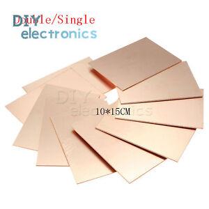 10pcs 7x10cm Single Sided PCB Copper Clad Laminate FR4 Printed Circuit Board US