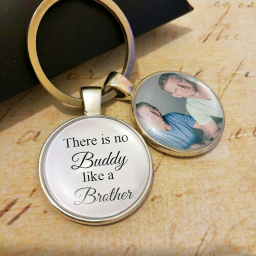 Personalized Photo Brother of the Groom or Bride Wedding Keepsake Gift Keyring