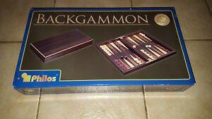 Backgammon-Philos-1176-madera-procedente-de-plantaciones-de-cultivo-Top-estado