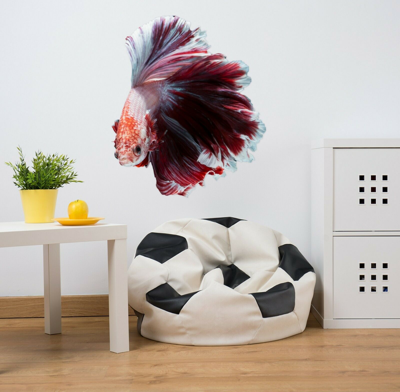 3D Fight Fish P82 Animal Wallpaper Mural Self-adhesive Removable Zoe
