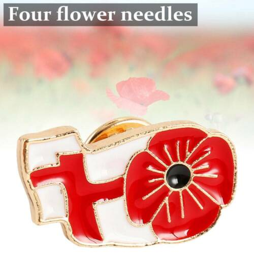 New Crystal Poppy Lapel Pin Badges Brooch 2019 Enamel Collection Day Brithish