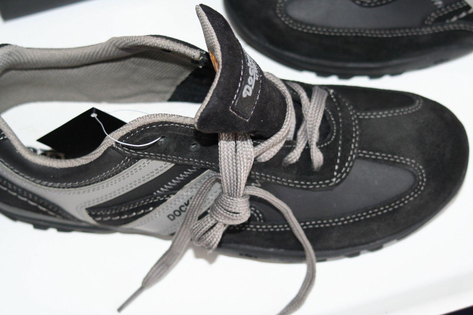 DOCKERS  Grau MOCASSIN  Neu schwarz Grau  usw  echt Leder  42 3f0344