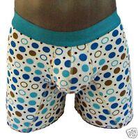 Fashionable Mens Boys Fun Underwear Blue Briefs Short No Fly L2 Small A1