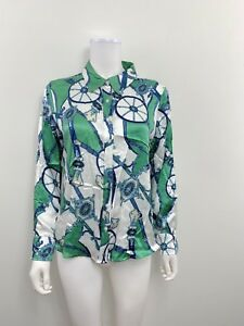 ff1dea6360914f Liz Claiborne Women s Size 12 Petite Long Sleeve Button Down Silk ...