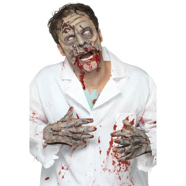 Adultes Zombie Masque Latex Gants Halloween Costume Horreur Kit Accessoire Neuf