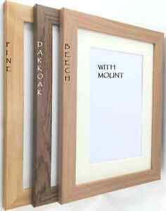 Dark Oak Pine Amp Beech Photo Frame With Mount Multi