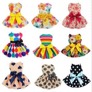 Various-Dog-Apparel-Pet-Clothes-Cat-Cat-Bow-Dress-Skirt-Clothes-Vest-Costume