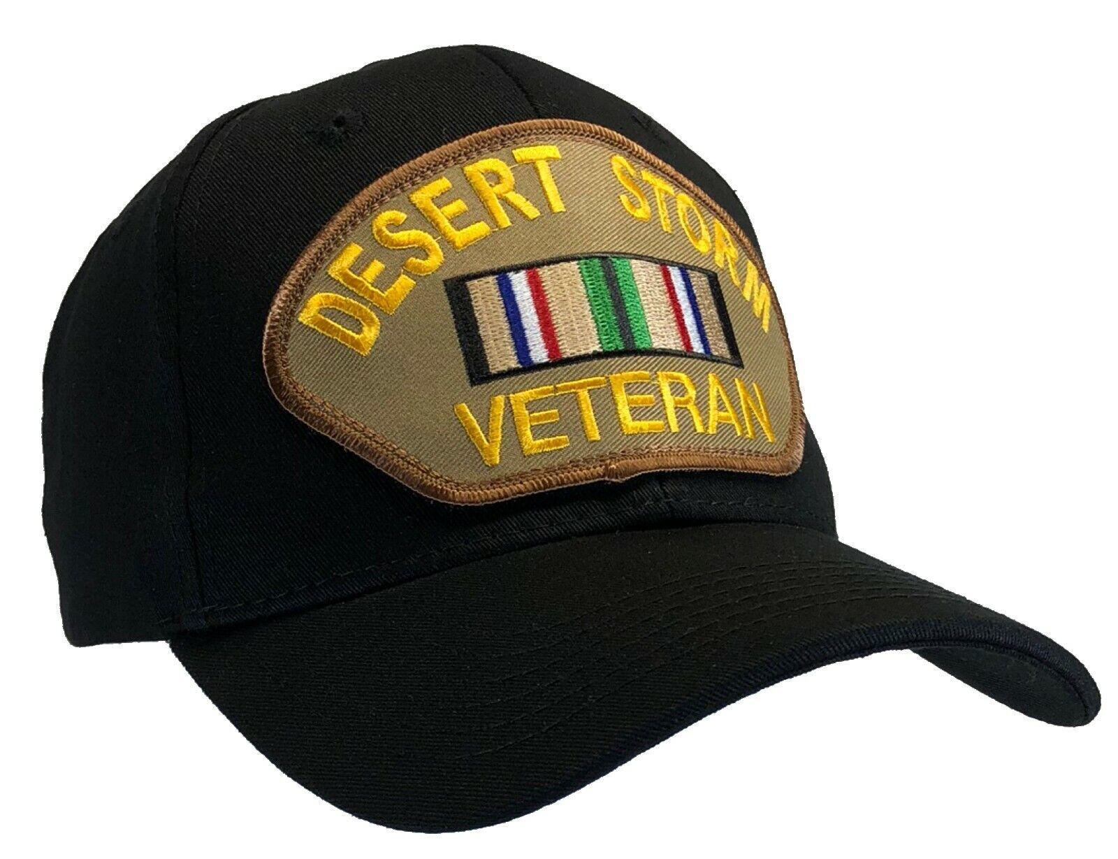 Desert Storm Veteran Hat Black Baseball Cap