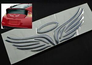 Details about AU Silver ABS Angel's Halo Wings Vehicle Car Auto 3D Emblem  Stick Decal 16cm