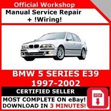 factory workshop service repair manual bmw 5 series e39 1997-2002 +wiring
