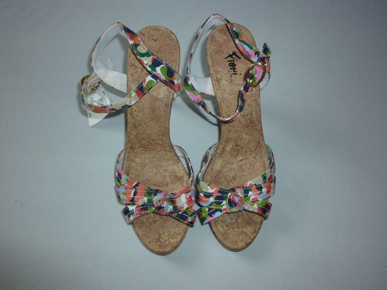 Fioni Women's Stiletto Multi-Color Open Toe Slingback/Strap High Heels Stiletto Women's Sz 6 NWOB 143995