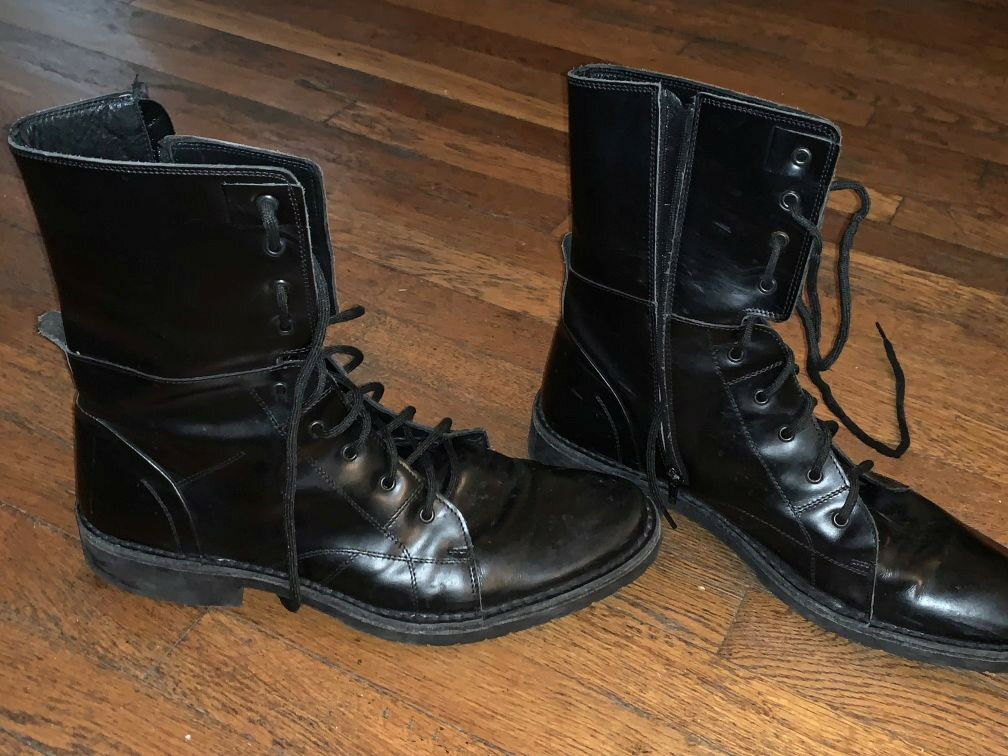 Kenneth Cole, Men's Size 12 A-frame ALL LEATHER stylish high boots made in