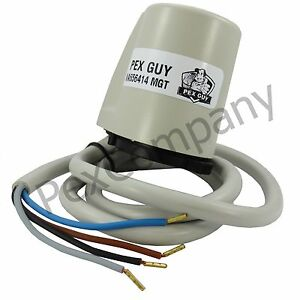 24v pex guy 4 wire thermostatic actuator w auxiliary. Black Bedroom Furniture Sets. Home Design Ideas